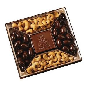Custom Confection Box w/ Molded Chocolate Centerpiece - 10 Oz.